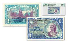 1968–1969 Series 661 $1 MPC Note PMG 67 EPQ