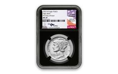 2020-W $25 1-oz Palladium American Eagle High Relief NGC MS70 First Day of Issue w/Mercanti Signature