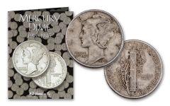 1941–1945-PDS Mercury Dime 15-pc Set Fine