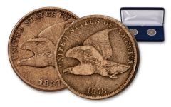 1857–1858 Flying Eagle Cent 2-Coin Set G-VG