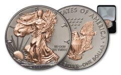 2021 $1 1-oz Silver Eagle BU w/Black Ruthenium & Rose Gold