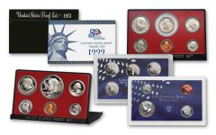 1973–2004 U.S. Proof Set Collection — First-Year Issues 5-pc Set