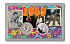1969-DS Kennedy Half Dollar BU & Proof 2-pc Set