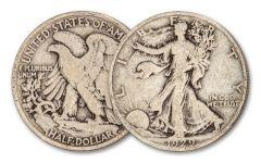1929-D Walking Liberty Silver Half Dollar VG