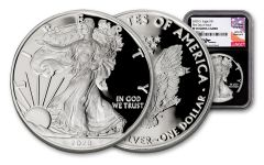 2020-S $1 1-oz Silver Eagle NGC PF70UC First Day of Issue w/Mercanti Signature