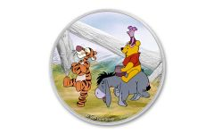2021 Niue $2 1-oz Silver Disney Winnie the Pooh & Friends Colorized Proof