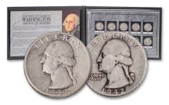 1932–1942 Washington Quarter First 10 Years 10-pc Set