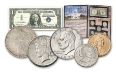 1878–2008 U.S. Dollar Story 5-pc Set w/1957 $1 Silver Certificate