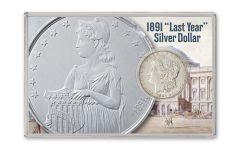 "1891 ""What If"" Morgan Silver Dollar XF"