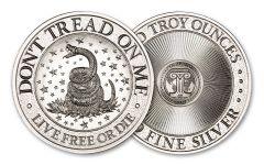 Intaglio Mint 2-oz Silver Don't Tread On Me Round BU