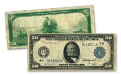 $50 1914 FEDERAL RESERVE GRANT NOTE VF