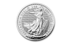 2021 Great Britain £2 1-oz Silver Britannia BU
