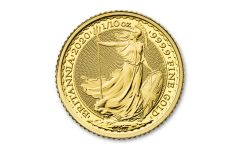2021 Great Britain £10 1/10th-oz Gold Britannia BU