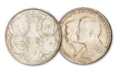1963–1964 Greece 30 Drachma Silver 2-pc Set XF