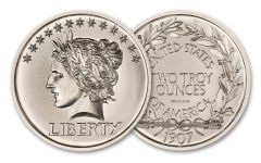 Intaglio Mint 2-oz Silver Saint-Gaudens One Cent Tribute Gem BU