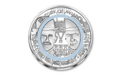 2021 Ghana 2 Cedis 24.8-gm CuNi History of Aviation: The Wright Brothers Silver-Plated Coin w/Polymer Ring BU
