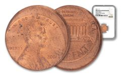 1982–2001 Lincoln Cent Off-Center Error NGC BU
