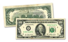 1977–1990 $100 Franklin Paper Currency Note VF