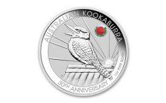 2020 Australia $1 1-oz Silver Sydney ADNA Expo Kookaburra w/ Waratah Privy Mark BU