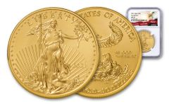 2021 $50 1-oz Gold American Eagle NGC MS70 First Releases w/Eagle Label