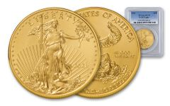 2021 $50 1-oz Gold American Eagle PCGS MS70 First Strike w/Flag Label