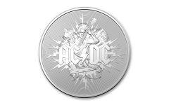2021 Australia $1 1-oz Silver AC/DC Frosted BU