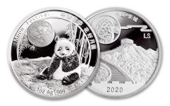 CHINA 2016-2020 1OZ SILVER MOON PANDA PROOF
