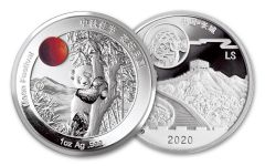 CHINA 2019-2020 1OZ SILVER MOON PANDA PROOF