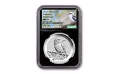 2021 Australia $1 1-oz Silver Kookaburra NGC MS70 First Releases w/Black Core & Kookaburra Label
