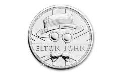 2021 Great Britain £2 1-oz Silver Legends of Music: Elton John BU