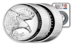 2020 Australia $10 10-oz Silver Wedge-Tailed Eagle High Relief Proof NGC PF70UC First Day of Issue w/Mercanti Signature