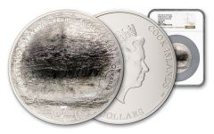 2020 Cook Islands $25 5-oz Silver 7 Summits – Carstensz Pyramid Ultra High Relief Colorized Proof NGC MS70 First Releases