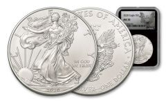 2020-(W) $1 1-oz Silver American Eagle Struck at West Point NGC MS70 w/Heraldic Eagle Label
