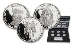2015–2017 Jamul Sovereign Nation $1 1-oz Silver Native American 6-pc Proof Set