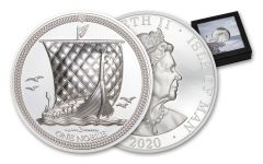 2020 Isle of Man 2 oz Silver Noble Piedfort Ultra High Relief Proof Coin GEM Proof OGP