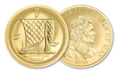 2020 Isle of Man 1/2 g Gold Noble Ultra High Relief Proof Coin GEM Proof Original Mint Capsule