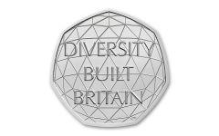 2020 Great Britain 50 Pence 8-gm CuNi British Diversity BU