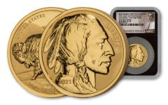 2021 1 oz Gold Fraser Lost Buffalo Ultra High Relief Reverse Proof Medal NGC PF70 FDI BC Fraser Label