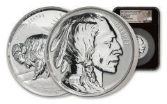 2021 10 oz Silver Fraser Lost Buffalo Ultra High Relief Reverse Proof Medal NGC PF70 FDI BC Fraser Label
