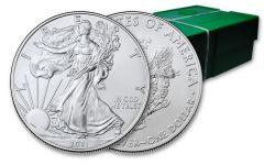 500PC 2021 $1 1OZ SILVER EAGLE BU MONSTER BOX