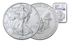 2021 $1 1-oz Silver Eagle NGC MS70 Early Releases