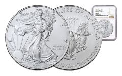 2021 $1 1-oz Silver Eagle NGC MS69 w/Brown Label