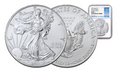 2021 $1 1-oz Silver Eagle NGC MS69 First Day of Issue