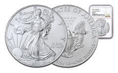2021 $1 1-oz Silver Eagle NGC MS70 w/Brown Label