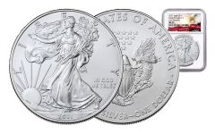 2021 $1 1-oz Silver Eagle NGC MS70 Early Releases w/Eagle Label