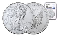 2021 $1 1-oz Silver Eagle NGC MS70 First Releases