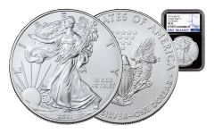 2021 $1 1-oz Silver Eagle NGC MS70 First Releases w/Black Core