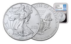 2021 $1 1-oz Silver Eagle NGC MS70 First Day of Issue w/Silver Foil Core