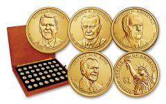 2007–2020 Presidential Dollar 40-pc Collection BU w/ Box