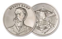 Intaglio Mint 1 oz Silver Wild West Legends Wyatt Earp Medal GEM BU